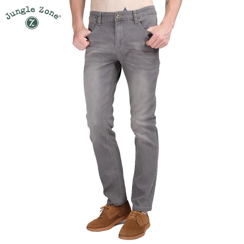 Джунгли Zone 2018 Для мужчин стрейч Джинсы для женщин Для мужчин корейский тонкие узкие повседневные штаны