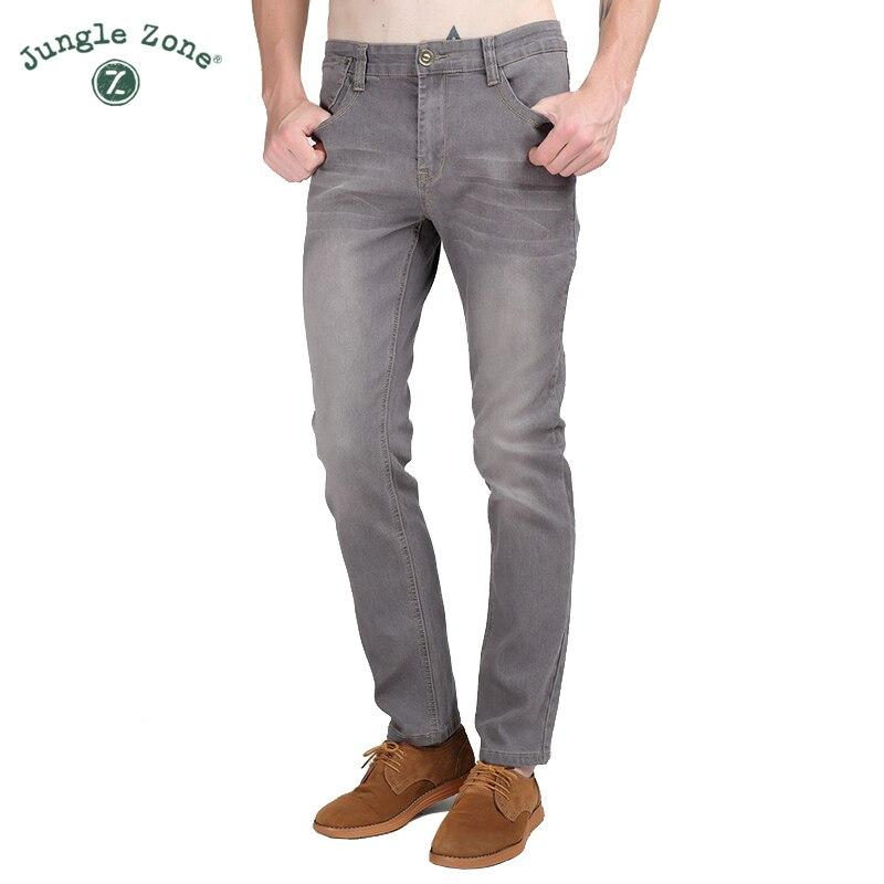 JUNGLE ZONE 2018 Mens Stretch Jeans Mens Korean Slim Skinny Casual Trousers