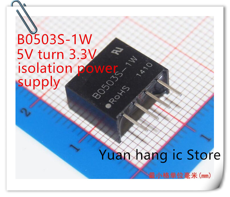 10PCS New Original B0503S-1W B0503S 1W DC-DC Step-down Power Supply 5V To 3.3V Dcdc Isolated Power Supply