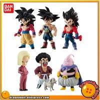 Dragon Ball SUPER Original BANDAI ADVERGE 07 Collection Figure Full Set 6 Pcs Goku Vegeta Bardock Buu Mr.Satan Android #18