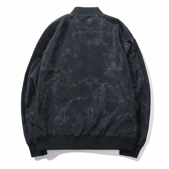 NCOM Men's Brand New Black Camo Bomber Jacket
