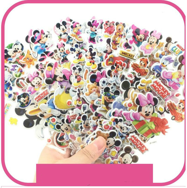 10 Sheets 3D Puffy Bubble Stickers Cartoon  Princess cat Waterpoof DIY baby Toys for Children Kids Boy Girl  GYH