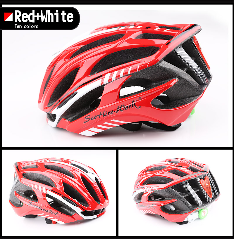 Cycling Helmet Integrally-molded Bicycle Helmet Road Mountain MTB Bike Ultra light Helmet With LED Lights Glasses Bike Equipment (5)