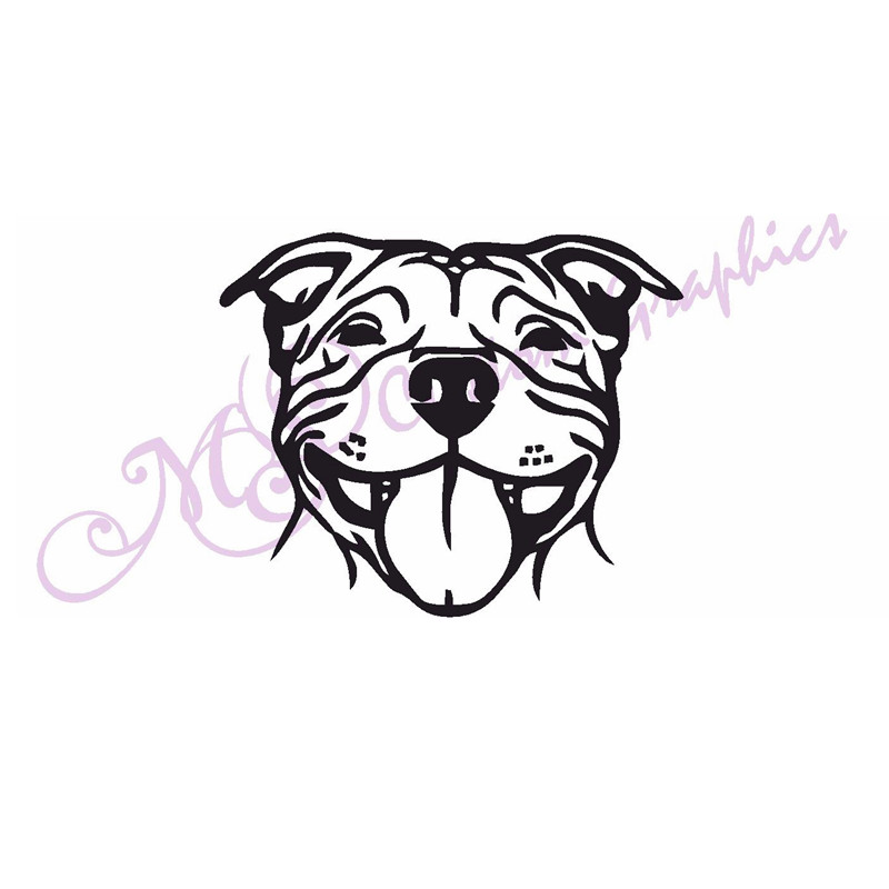 50Pcs car sticker * SMILING STAFFY * Car Decal, Vinyl, Drift Sticker Dog JDM DUB VAG EURO wall stickers muraux for rooms рюкзак pattaya na 013 2014