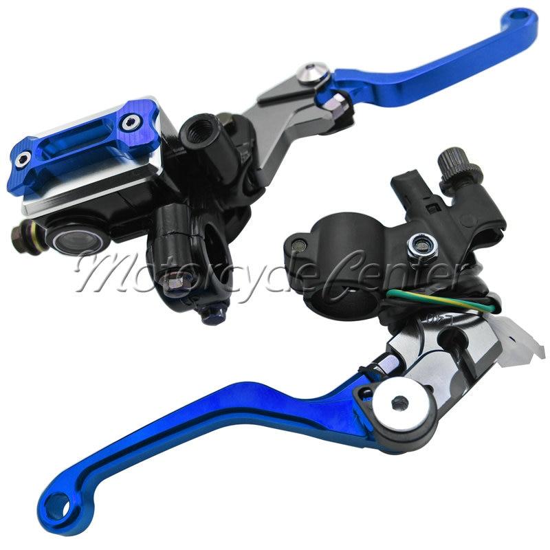 Motorcycle 7/8 22mm Brake Master Cylinder Reservoir Levers For Yamaha YZ 80 85 WR 250F 450F 250R TTR 600 125 SEROW 225 250 Blue