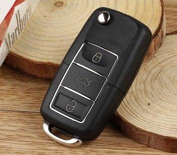 ¡Nuevo! carcasa de 3 botones para mando a distancia de AUTEWODE, carcasa plegable para VW Bora Beetle Golf Polo Passat