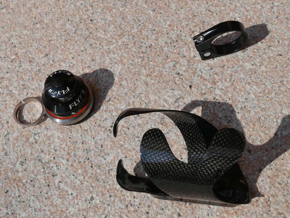 """Cadre de VTT vtt 3 K UD carbone mat brillant 29er 15.5 """"17.5"""" 19 """"(BB30 + casque de vélo + pince de siège + porte-bouteille"""