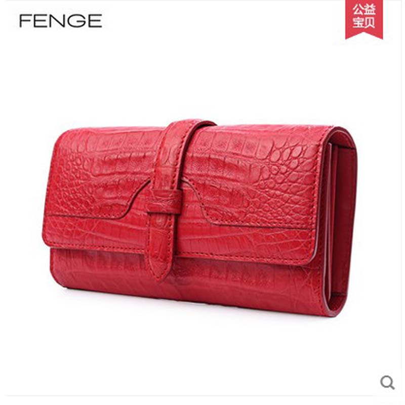 Fenge crocodile women clutch bag female long wallet bag women bag  fashion party imported crocodile skin ledai wallet female long style thin personality ultra thin american japanese students simple women clutch bag crocodile skin ba