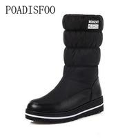POADISFOO Puls Size The New 2017 Winter Snow Boots Warm High Quality Fabrics And Lightweight Platform