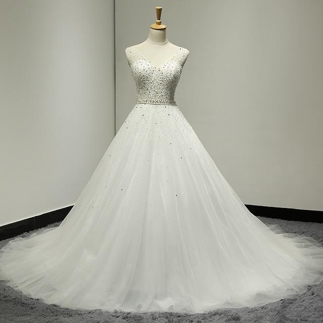 Real Picture Vestido De Noiva Bling Bridal Gowns Glitter Wedding Dresses  Turkey Tulle Vintage Real African 7852a8af6142