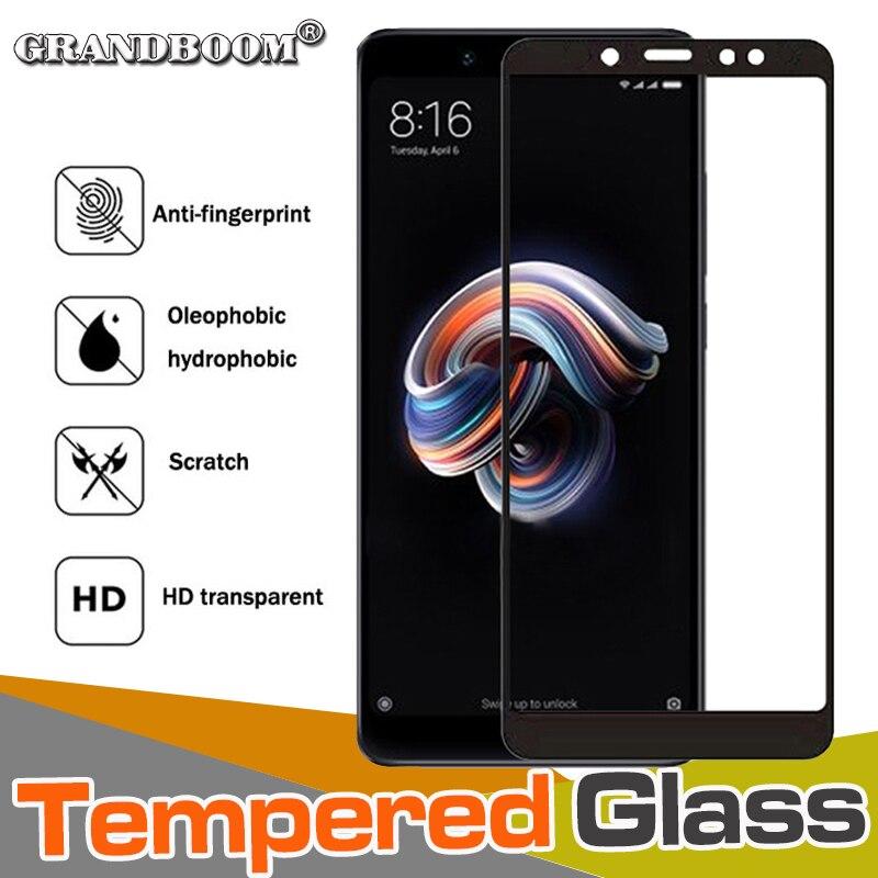 50pcs 9H Anti Scratch Tempered Glass Full Cover For Xiaomi Redmi Note 7 6 5A Pro