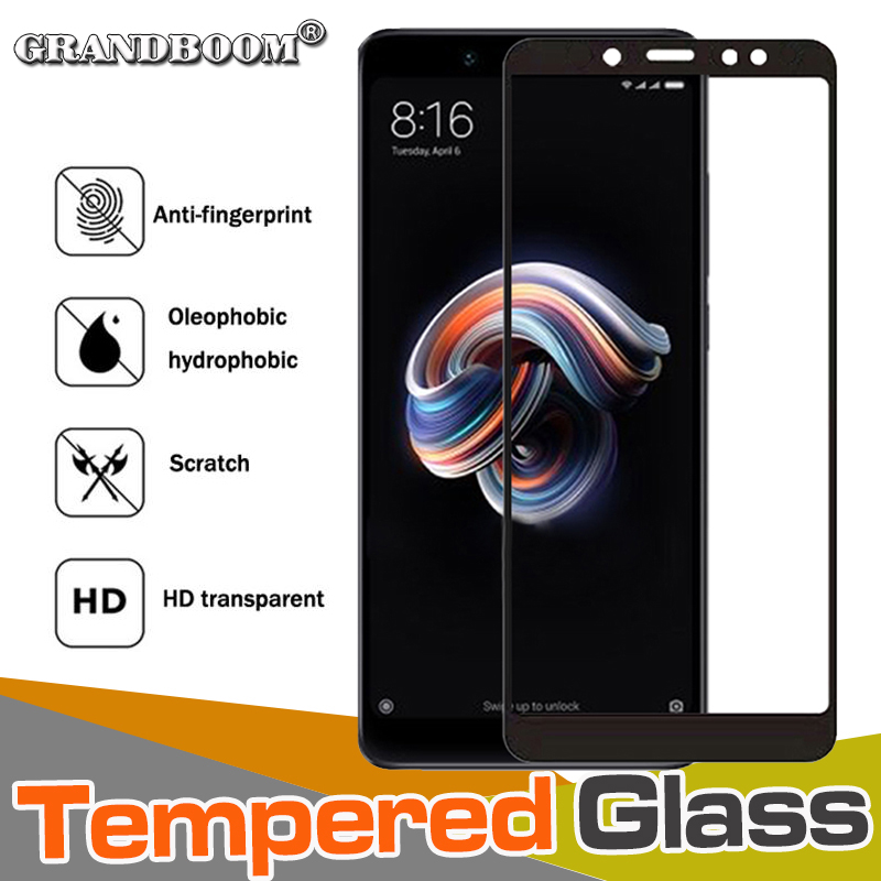 50pcs 9H Anti Scratch Tempered Glass Full Cover For Xiaomi Redmi Note 7 6 5A Pro 6A S2 GO K20 Pro Hard Edge Printing Guard Film-in Phone Screen Protectors from Cellphones & Telecommunications    1