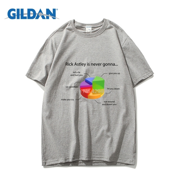 Rick Astley Pie Chart Tee 2018 100 Cotton Design T Shirt Clothing