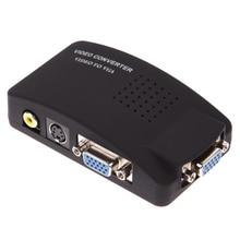 Бесплатная доставка AV RCA Composite S-Video Вход VGA Выход Мониторы адаптер конвертер CCTV L3EF