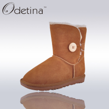 Odetina Brand Australian Women Snow Boots Ug Large Size Flat Nubuck Leather Boots Women Ankle Boots Platform 2016 Winter Shoes