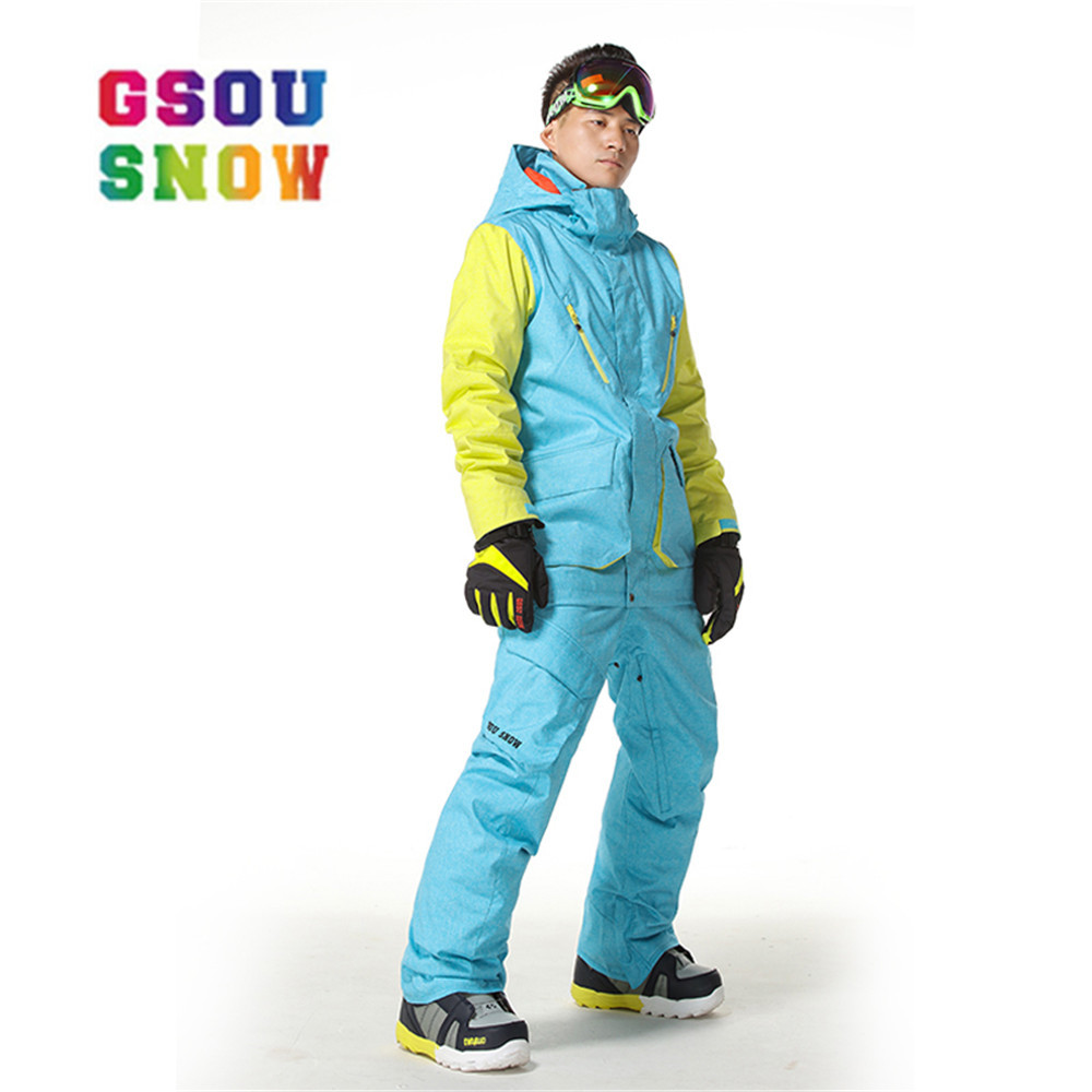Gsou Snow Skiing Pants Men Snowboarding Winter Outdoor Windproof Ski Pants Waterproof Warmful Breathable Thicker Cotton High-Q gsou snow high quality men ski pants snowboarding colorful warm waterproof windproof breathable skiing pants