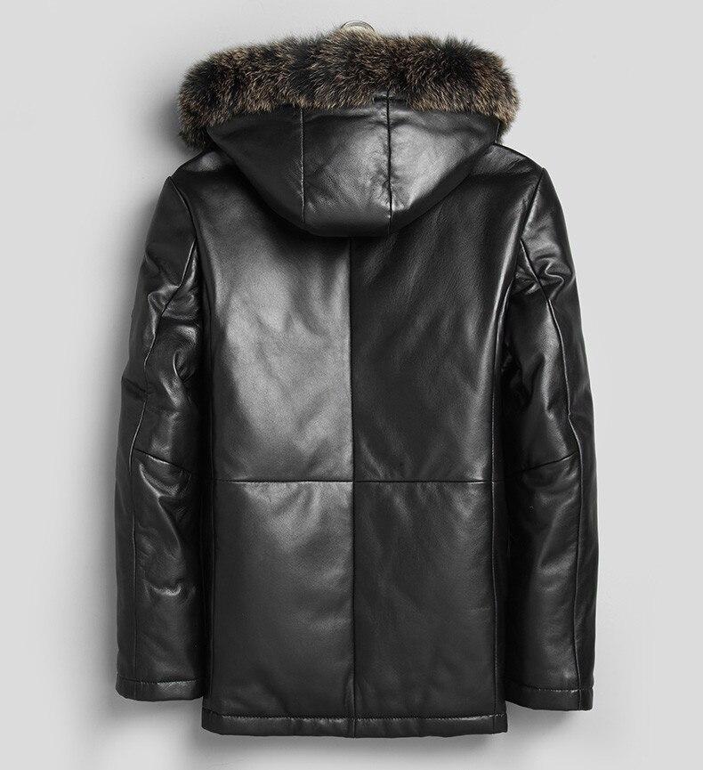 Chaud Veste De Mouton Parka D'hiver Mf386 Black Plus Taille Peau Geniune Outwear Manteaux Hommes En Épaississement Cuir Yolanfairy La JcKul13TF5