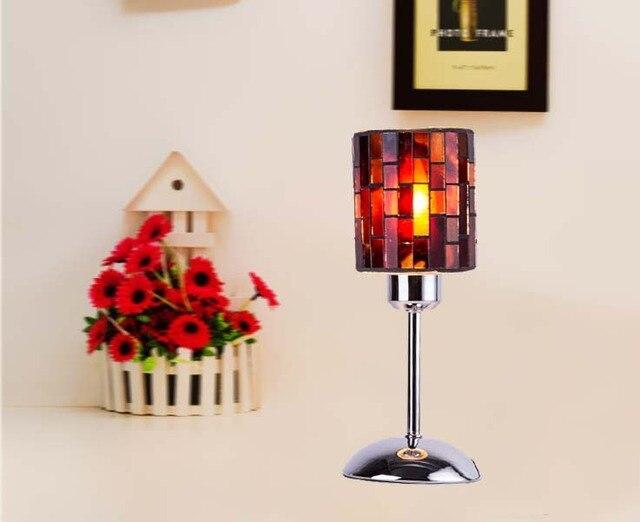 Américain chambre lampe de chevet en verre d art de chaud Veilleuse