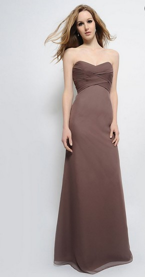 free shipping new pageant   dress   2016 plus size brides maid   dress   vestidos de fiesta formal long brown chiffon   Bridesmaid     Dresses
