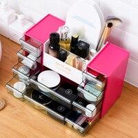 Plastic Makeup Organizer Home Office Sundries Cosmetics Storage 10 Grids Desktop Jewelry Storage Box Container Drawer Organizer