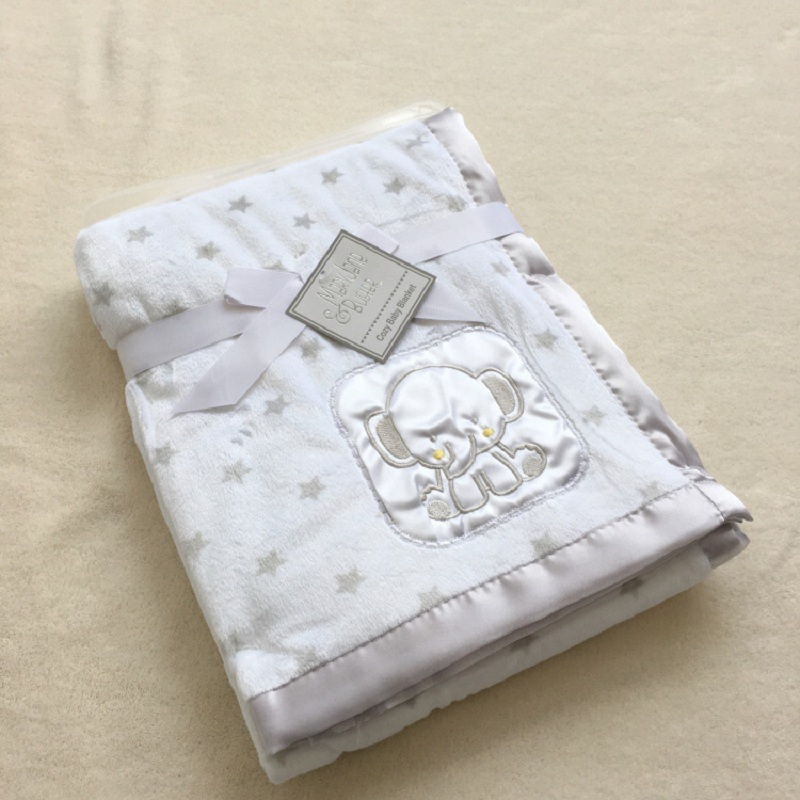Baby Coral Fleece Blanket Infant Bebe Swaddling Wrap Thicken Lamb Multi-function Blankets Newborn Baby Bedding Blankets 76*102CM