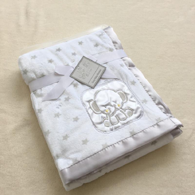 Baby Coral Fleece Blanket Infant Bebe Swaddling Wrap Thicken Lamb Multi-function Blankets Newborn Baby Bedding Blankets 76*102CM