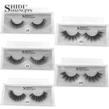 New 1 pair False Mink Eyelashes Long Natural Fake Eyelashes Soft Makeup Eye Lashes 3D Mink Lashes Eyelash Extension Faux Cils