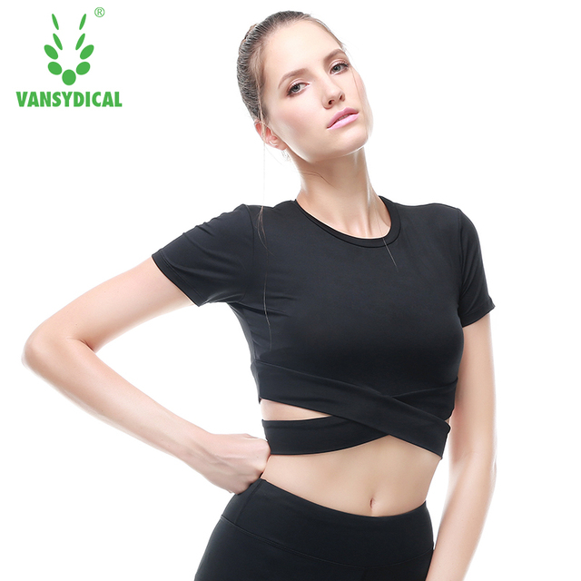 Women Yoga Top Women Yoga Shirts short Sleeve Gym Shirts Fitness Clothing  Shirt Female Sports Tops Women Sport Shirt 451880a61
