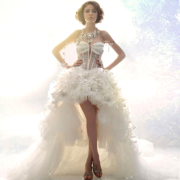 aliexpresscom buy sexy short wedding dresses 2016 bride princess luxury beading lace short front long back transparent plus size wedding gowns from