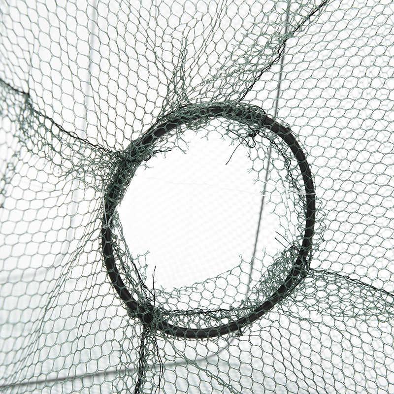 Di alta Qualità Della Maglia Trappola Gamberetti Trappole Nuovo Granchio Pesce Crawdad Gambero Minnow Esche Da Pesca Trappola Cast Dip Net Cage Pesca netto