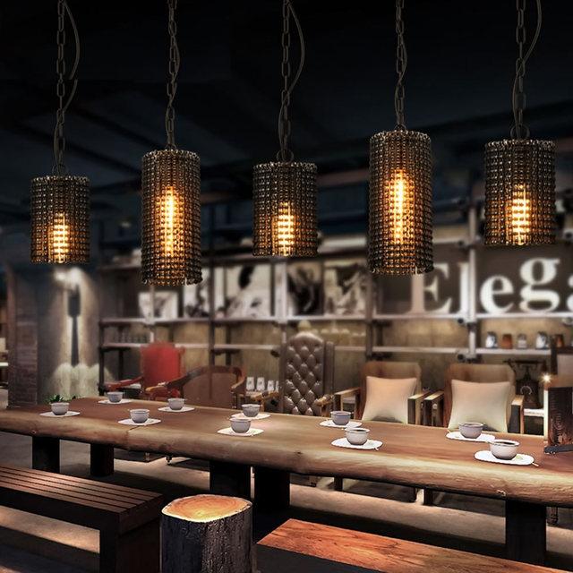 Luz pingente de Loft Industrial Corrente de Bicicleta Luminária para Bar Café Quarto Restaurante em Estilo Country Americano Lâmpada Pendurada