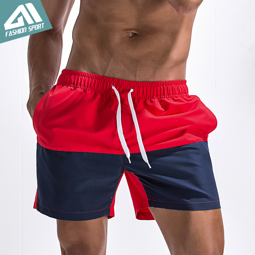 898cf3c9ae Aimpact Patchwork Men's Board Shorts Fast Dry 2018 Summer Holiday Beach  Surf Swimming Trunks Sport Running Hybird Shorts AM2022