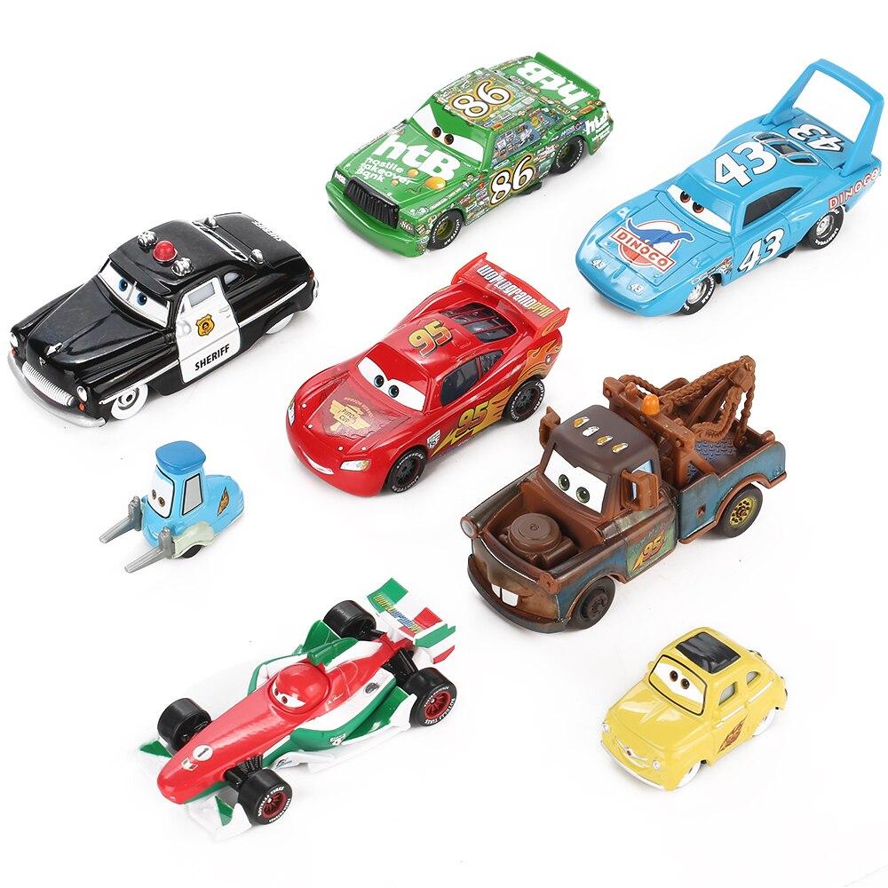 Disney Pixar Cars 3 Lightning McQueen Mater 1:55 Diecast Metal Alloy Model Car Birthday Gift Educational Toys For Children Boys