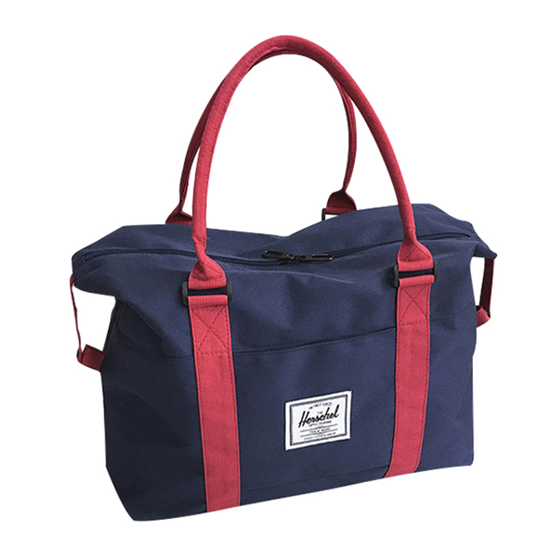 Denim Foldable Travel Bag Large Capacity Folding Cowboy Weekend Bag Women Shoulder Traveling Bag T560