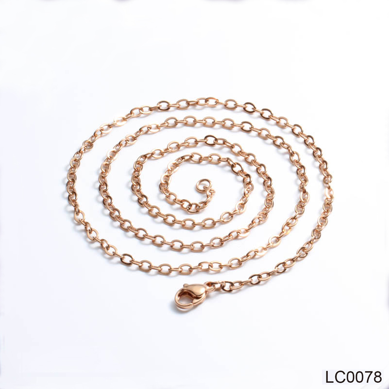 3.0mm Rose Gold Silver Gold Color Stainless Steel Necklace for Women Girl Female Necklace 45-60cm Fashion Jewelry 40cm,45cm,50cm