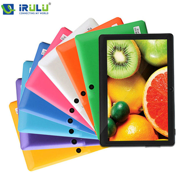 2016 Original iRULU expro X1 7 » Tablet Android 4.4 1024*600 HD Screen 8GB ROM Quad Core Dual Cameras WiFi Games W/Earthphone