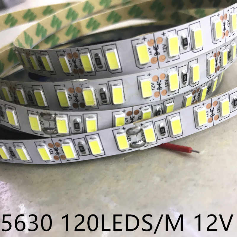 SMD 5630 5730 120 leds/m DC 12 V led-streifen Flexible 5 Mt 300 LED band wasserdicht nicht/ip67 rohr band lampe
