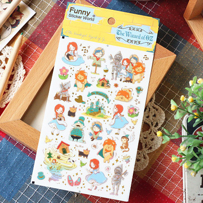 1 pcs New Kawaii 3D Deco scrapbooking /planner stickers/Decoration label/Wizard of Oz /o ...