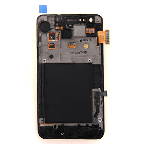 LCD Display Touch Screen Digitizer Assembly with frame bezel  For Samsung Galaxy S2 i9100 White 1pc/lot Free shipping,