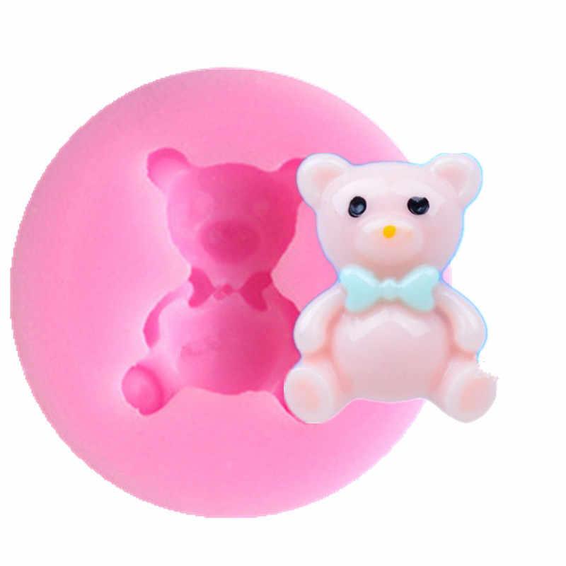3D обратный сахара формование силиконовая форма медведя пресс-форм для формы из полимерной глины принадлежности для кондитерских изделий инструмент для украшения торта