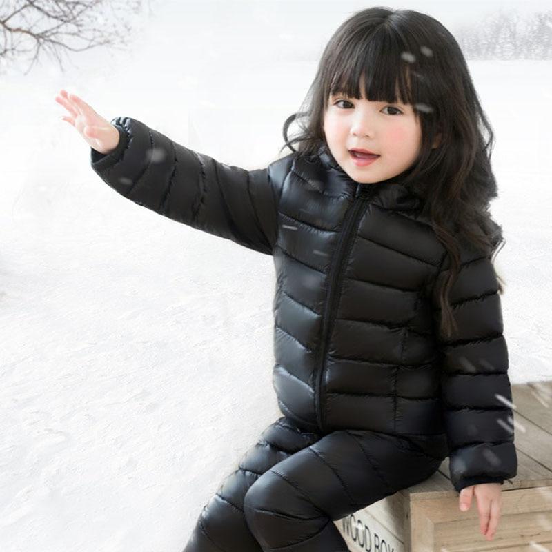 Snow Suits Ski Suits Kids Winter Girl Set Down Jacket -8133