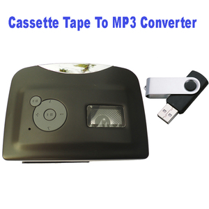 Image 4 - Mini Protable USB cassette Magnetic tape to mp3 USB Flash Driver converter player for capture recorder,Wholesale Free Shipping