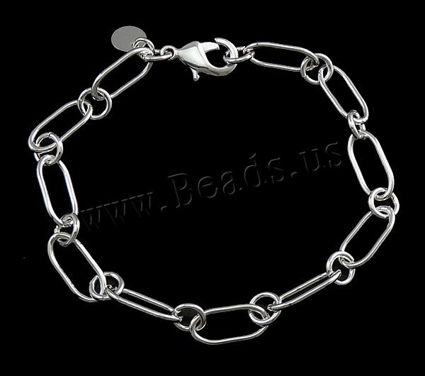 2835f19f424 Fashion 925 Sterling Silver Bracelet Elegant Charm Oval Link Chain Bangle  Lady Women Jewelry Friendship Wristbands