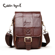Cobbler Legend Fashion Brand 2016 New Men's Vintage Genuine Leather Messenger Bag Men Male Cowhide Shoulder Crossbody Mini Bags