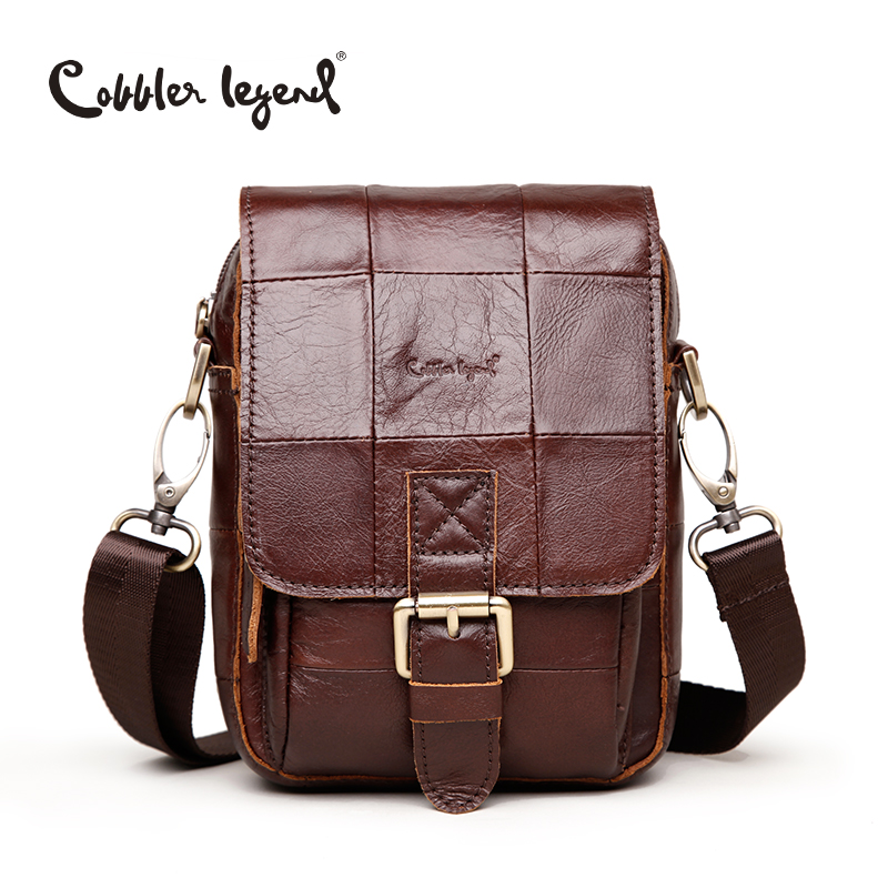 Cobbler Legend Fashion Brand 2016 New Men's Vintage Genuine Leather Messenger Bag Men Male Cowhide Shoulder Crossbody Mini Bags#