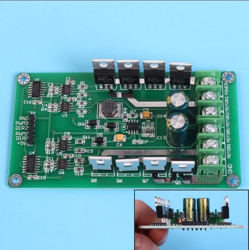 Dual Motor Driver Module Board H-Bridge DC MOSFET IRF3205 3-36V 10A Peak 30A NewDual Motor Driver Module Board H-Bridge DC MOSFET IRF3205 3-36V 10A Peak 30A New