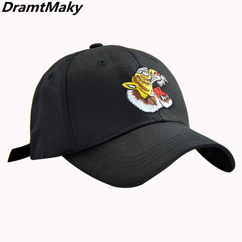 2019Embroidery ferocious Tiger Baseball Cap Men Black Trucker Snapback Hat Bone Summer Fashion Women Cotton Hip Hop Caps Gorras