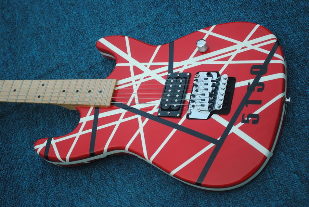9d9fe75bc36 2019 New + Factory + Kram EVH 5150 electric guitar Eddie Van Halen Kram  5150 guitar free shipping 5150 red striped guitar-in Guitar from Sports ...