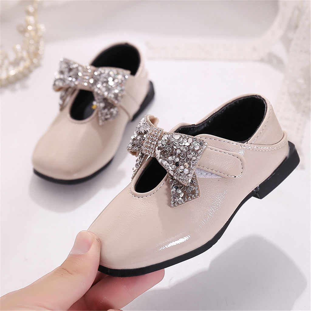 Baby Girls Solid Color Shoes Children's Shoes Girls Simple Style Non-Slip Shoes girls shoes for party and wedding#JN3