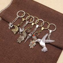WYSIWYG Peacock Bird Mix Key Chain Charm For Diy Handmade Gifts Jewelry Pandent